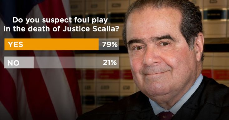Poll: 79% Suspect ?Foul Play? in Death of Antonin Scalia @retweetngro