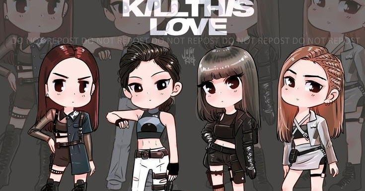 Kill This Love One Of The Most Popular Famous Song By Girl Group Blackpink And English Lyrics By Waofam Fol Blackpink Chibi Blackpink Cartoon Black Pink Anime Blackpink anime wallpaper hd