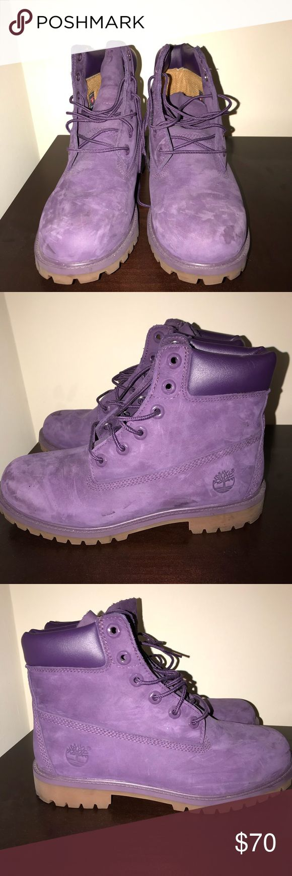 Timberland Boots Purple Timberland Boots Purple  Men's 7  Worn once Timberland Shoes Boots
