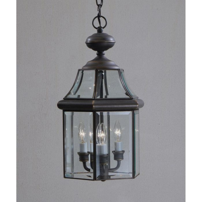 Kichler embassy row 3 light outdoor hanging lantern youll love wayfair