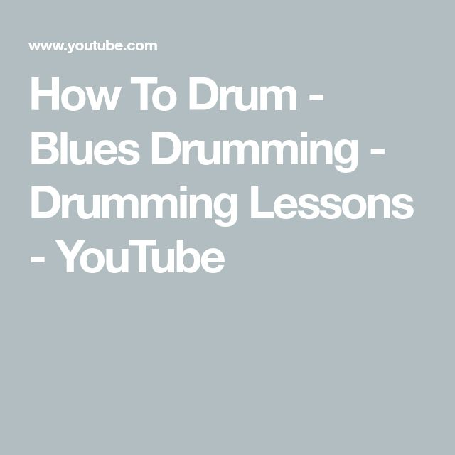 How To Drum - Blues Drumming - Drumming Lessons - YouTube