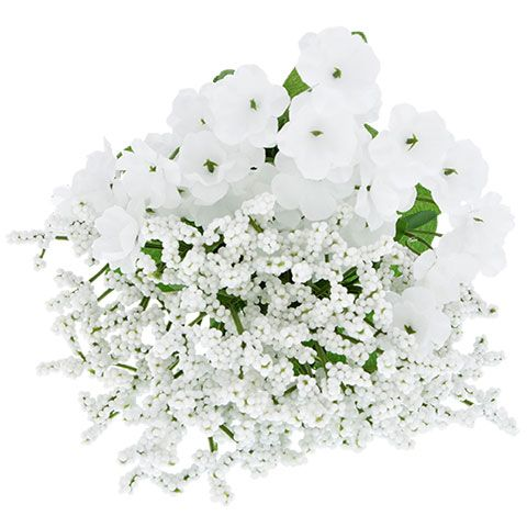 """5-Stem Artificial Baby's Breath Bushes, 12"""""""