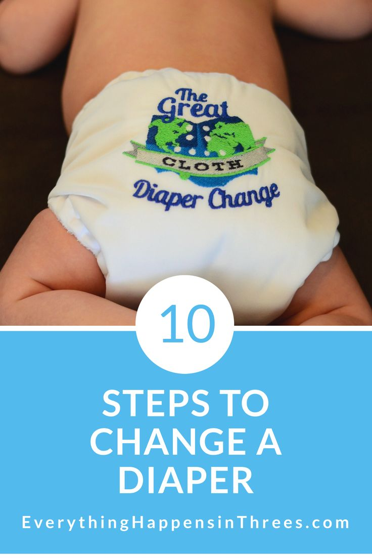 "In a baby's life, you will probably change about 4000 diapers. Luckily a diaper expert is here to show you the 10 ""easy"" steps to changing diapers."