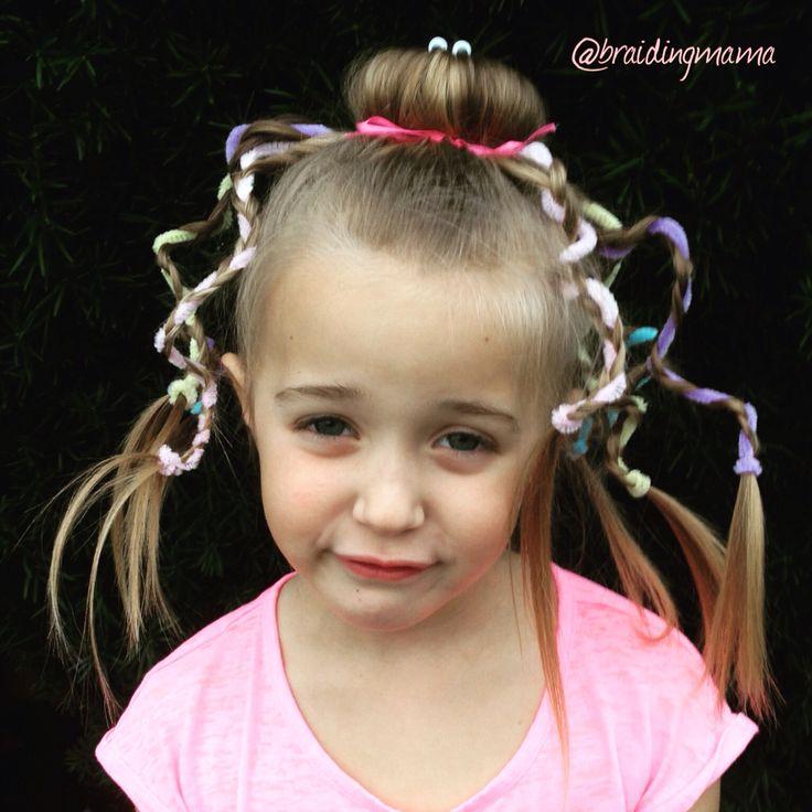 Halloween or dress up fun girls hairstyle Octopus Bun