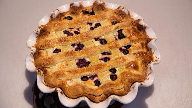Blueberry pie (blauwe bessentaart) - recept | 24Kitchen