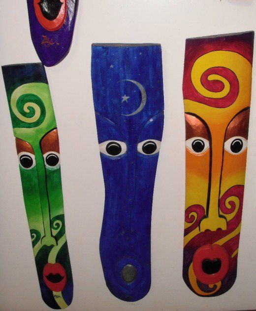 These three Zaka art masks hang in the l'Anse Chastanet Art Gallery, which displays many of the local St. Lucian artists work. As well, this resort showcases local musical talent nightly.