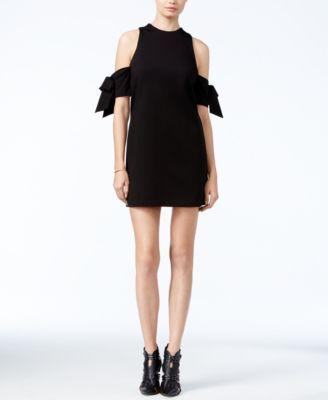 GUESS Adalene Cold-Shoulder Bow-Detail Dress