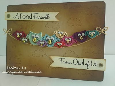 cute owl quilling card                                                                                                                                                     More