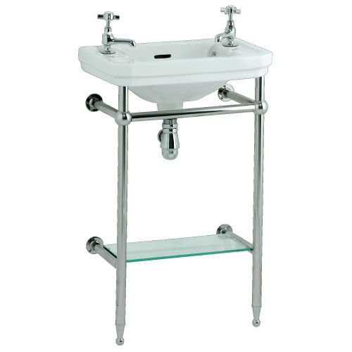Victorian cloakroom basin with stand