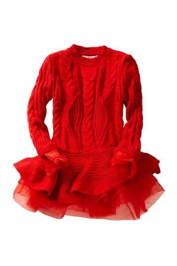 Image of Paulinie Flounce Sweater Tutu Dress (Toddler, Little Girls, & Big Girls)