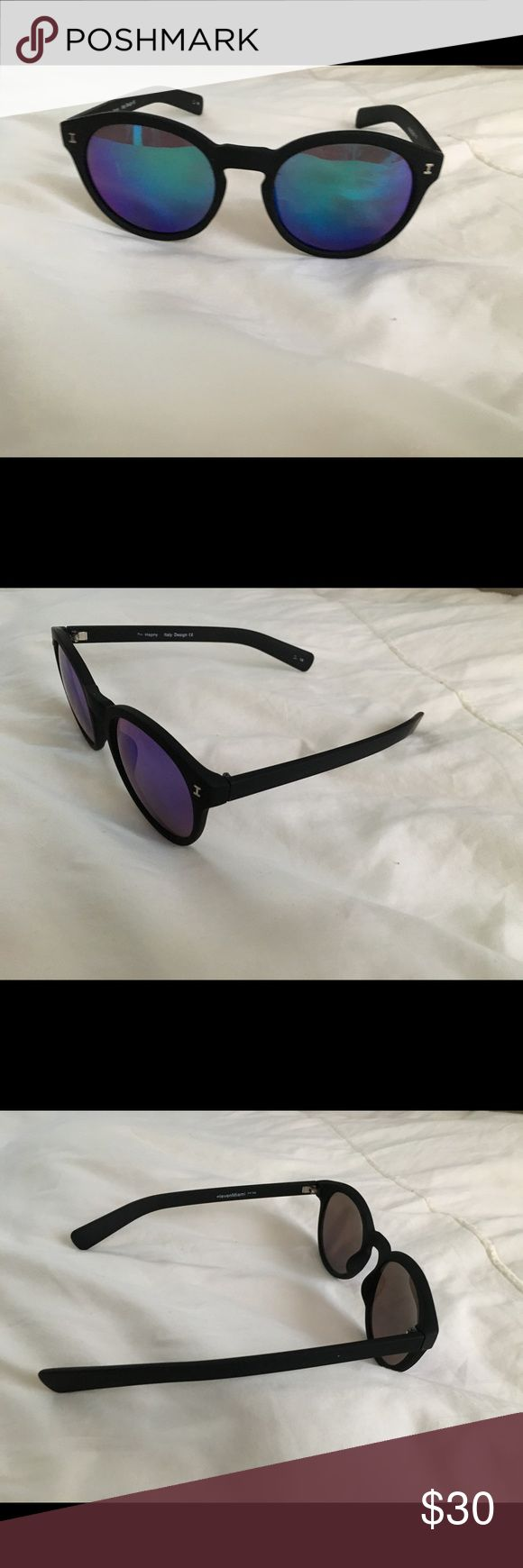 Eleven Miami Sunglasses with SunCloud Case! Barely used sunglasses with mirror lenses and suncloud case! elevenmiami Accessories Sunglasses