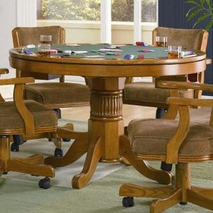 Mitchell Casual 3-in-1 Wood Game Table in Oak Finish