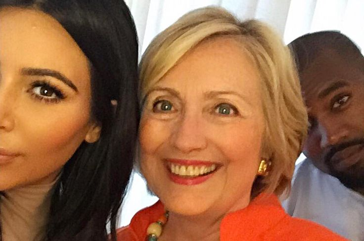 """Photo: Courtesy of Instagram/kimkardashian Against all odds, the 2016 presidential campaign is still going. And with it, we've got another unbelievable sound-bite from one Donald J. Trump about Hillary's celebrity supporters. Take it away, Donald: """"The only people enthusiastic about her campaign are Hollywood celebrities, in many cases, celebrities that aren't very... #KimKardashian #KanyeWest #HillaryClinton #Clinton #Clinton2016 #Politics #Political #America"""