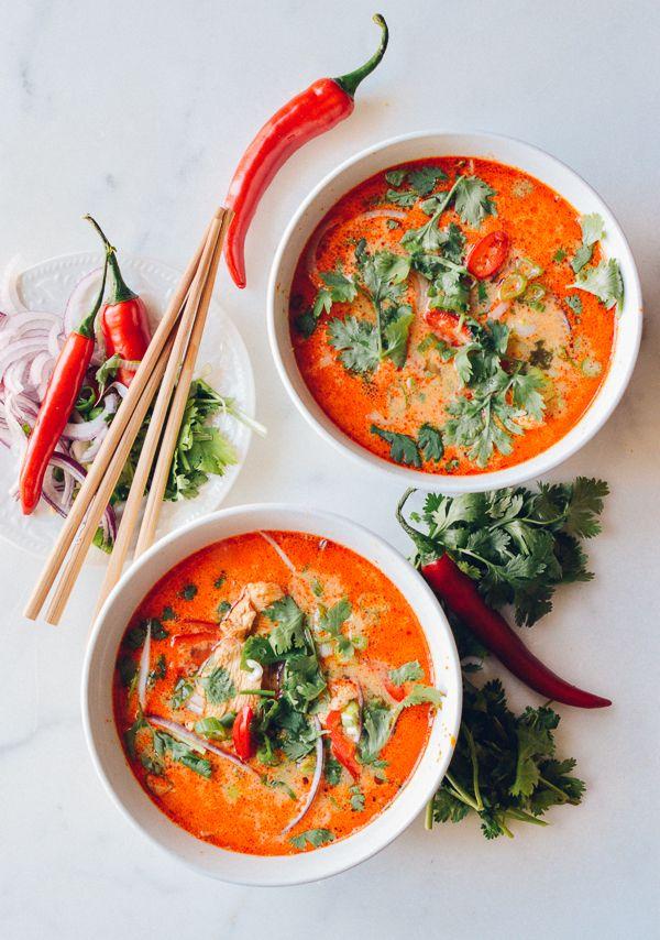 15 Minute Coconut Curry Noodle Soup // thewoksoflife.com
