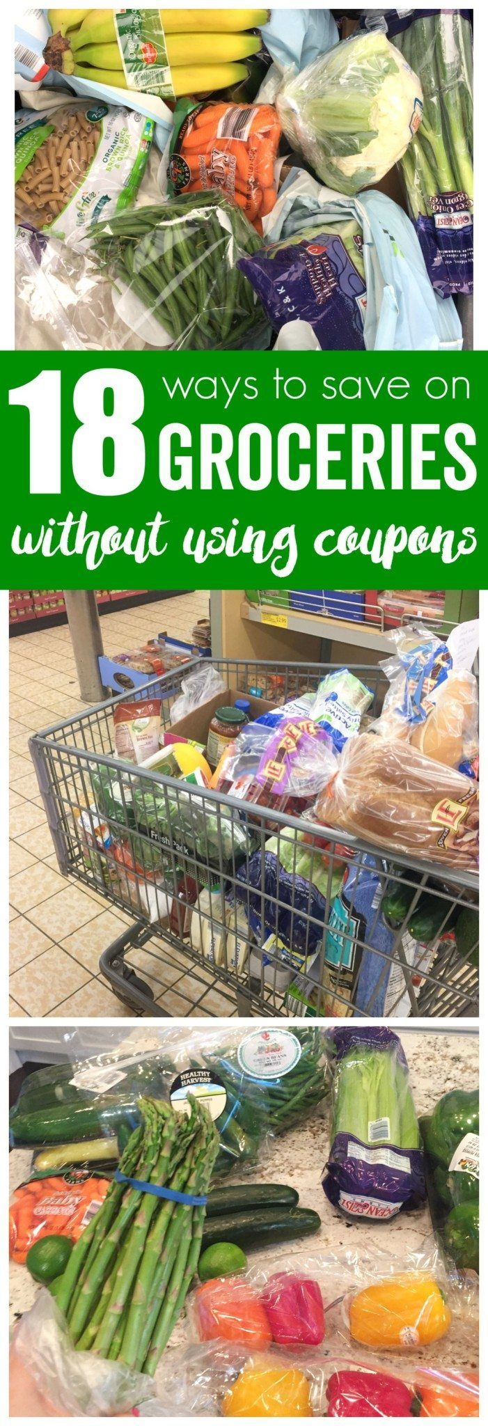Learn How to Save Money on groceries without Using Coupons on your Groceries. Save up to 50% without using coupons by following these Grocery Savings Tips!