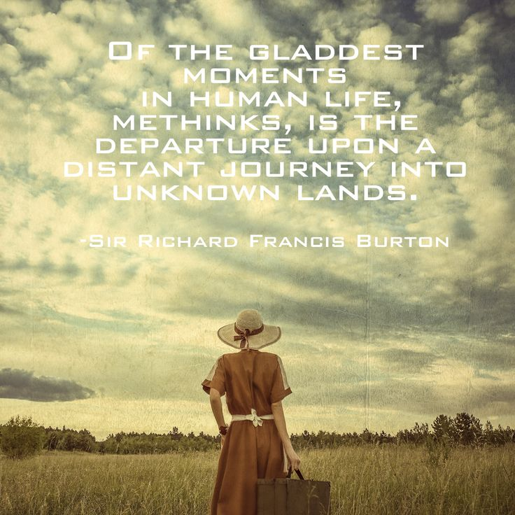 #travelquote from Sir Francis Burton