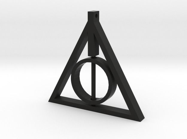 Deathly Hallows Rotating Necklace Pendant - Available in a range of materials, from plastic to platinum. Available Here: http://www.shapeways.com/model/2500661/deathly-hallows-rotating-pendant.html?materialId=25