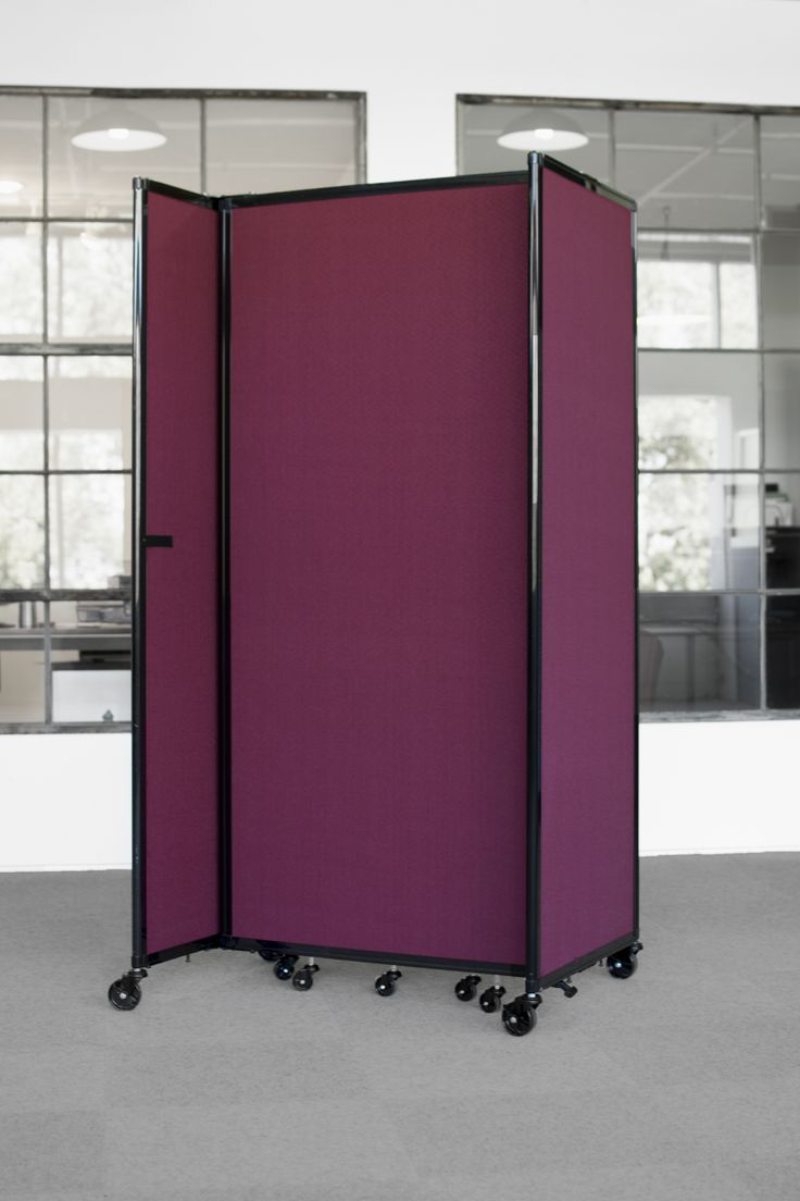 The Room Divider 360 portable partition is easy to store away when you no longer have the need for use. The panels fold up and lock away in a matter of moments.