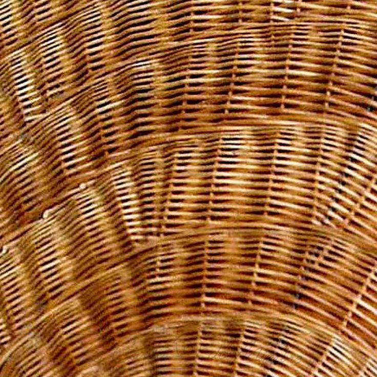 Detalle del bonito tejido de la sombrilla de mimbre buff
