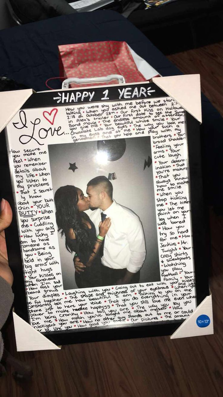 Happy 1 Jahr Zur Liebe Meines Lebens Diygeschenke Boyfriend Anniversary Gifts Diy Crafts For Boyfriend Diy Anniversary Gift