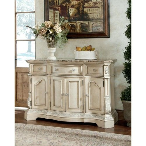 Ashley Millennium Ortanique Traditional Dining Room Server With Marble Top By Home Furnishings Serving