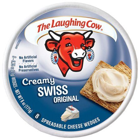 The Laughing Cow® Creamy Swiss Original Spreadable Cheese 8-0.75 oz. Wedges