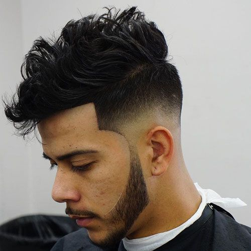 Low Bald Fade with Messy Hair