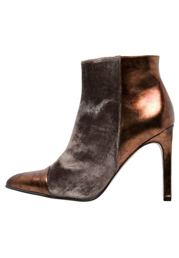 Paco Gil High Heel Stiefelette taupe/cobalto für Damen