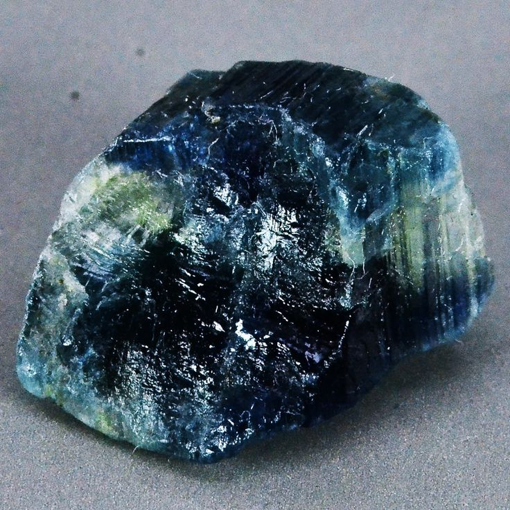 #RawSapphire | Here's a raw #sapphire nugget. Already showing off its beauty.