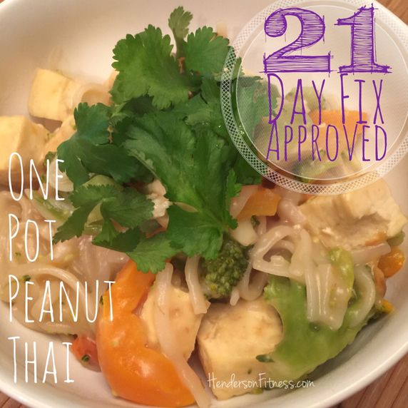 21-Day Fix approved One Pot Peanut Thai recipe