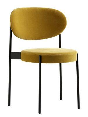 Series 430 Velours Verpan Gepolsterter Stuhl Esszimmerstuhl Wohnzimmer Sessel Stuhl Design
