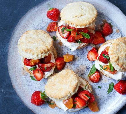 Two classics combined into doubly delicious results, these scones will go down a treat at a summer party, served with lashings of Pimm's-soaked fruit and boozy whipped cream