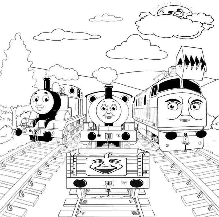 free printable colouring sheets cartoon thomas the train and thomas the train pinterest