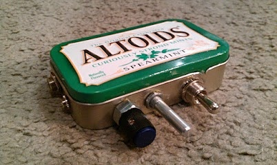 If your effects pedal breaks in the middle of your tour, stop at the nearest gas station and grab an Altoids box!