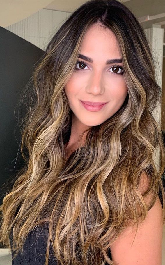 Gorgeous Hair Colour Trends For 2021 : Stylish illuminated brunette in 2021 | Gorgeous hair ...
