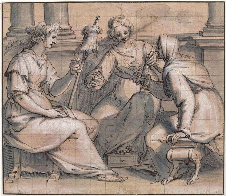 Giovanni Battista Paggi  (1554-1627) - Les trois Parques - Dessin