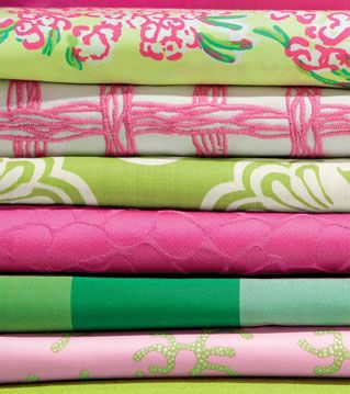 Lee Jofa partners with Lilly Pulitzer for a line of upholstery fabric.
