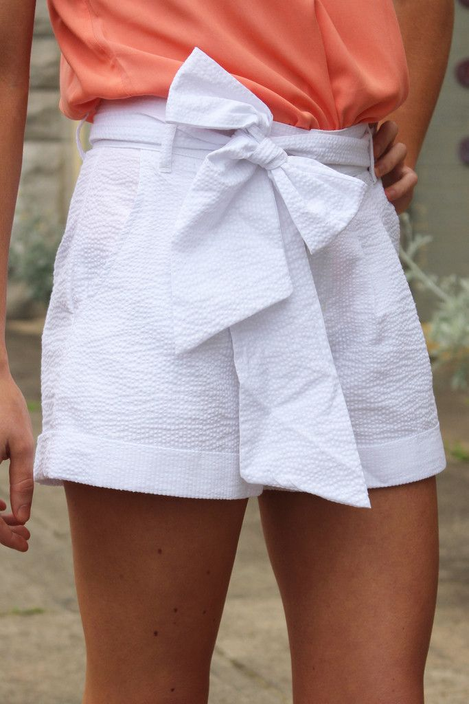 Lauren James bow shorts