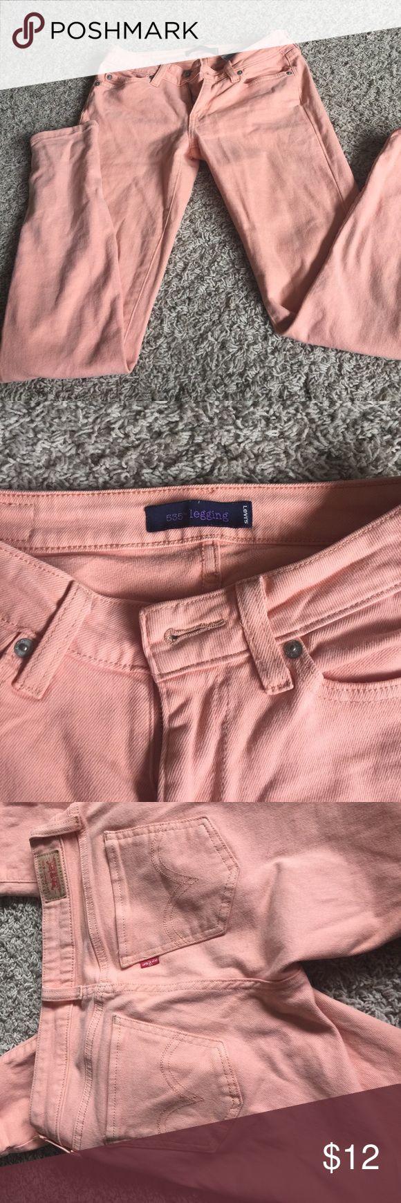 Women's coral skinny jeans Women's Levi 535 coral legging Levi's Jeans Skinny