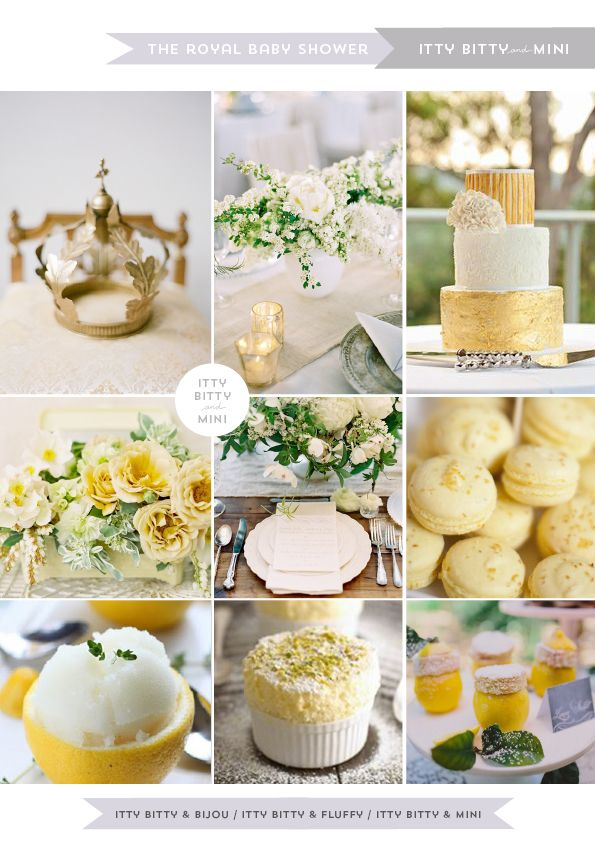 Kate Middleton's Royal baby shower with a gender neutral color palette of creams, whites and soft lemon // http://ittybittymini.blogspot.com