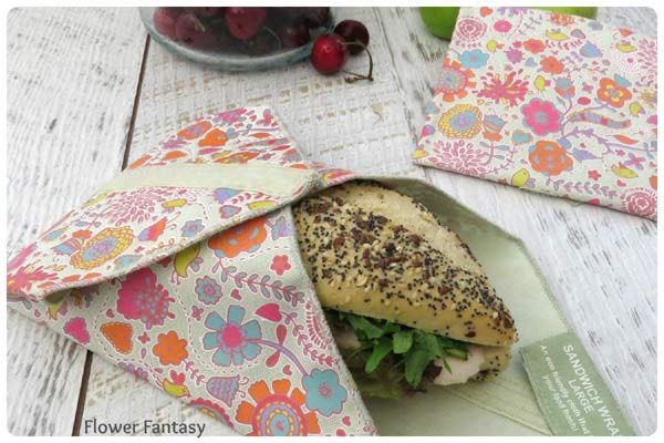 Flowers and Fantasy Sandwich Wrap