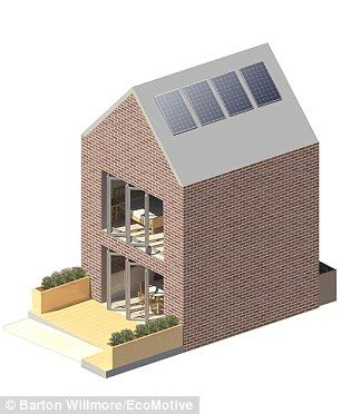 2 bedroom home built for £50K - the Modulhus can be bought as a finished product or as structure-only, allowing for a complete customisation of internal and external finishes - judged best new, cheap modular home, 2016, UK