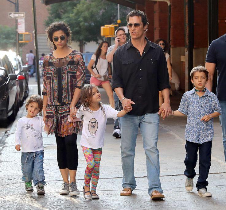 Matthew McConaughey's Family: Hand-In-Hand - http://site ...
