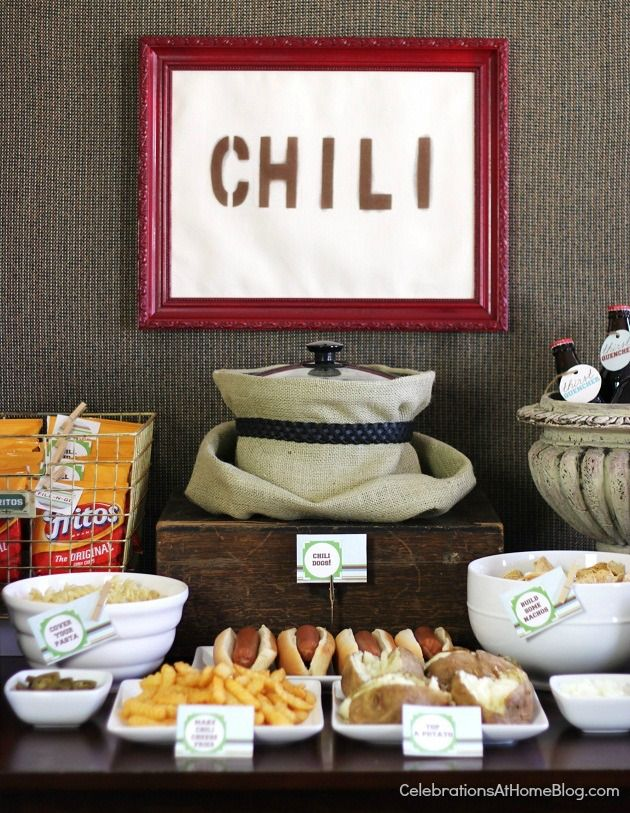 GREAT idea for entertaining!  Build a 'Chili Bar'  ...  by Celebrations At Home