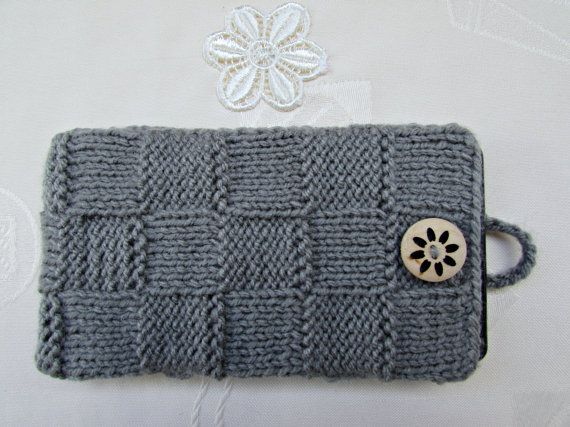 Smartphone Case Gray Knitted iPhone Case Knit Glasses Case