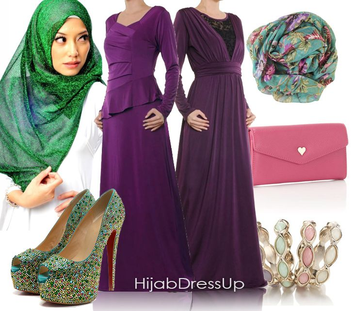 Hijab Dress Up # Style # Love Purple