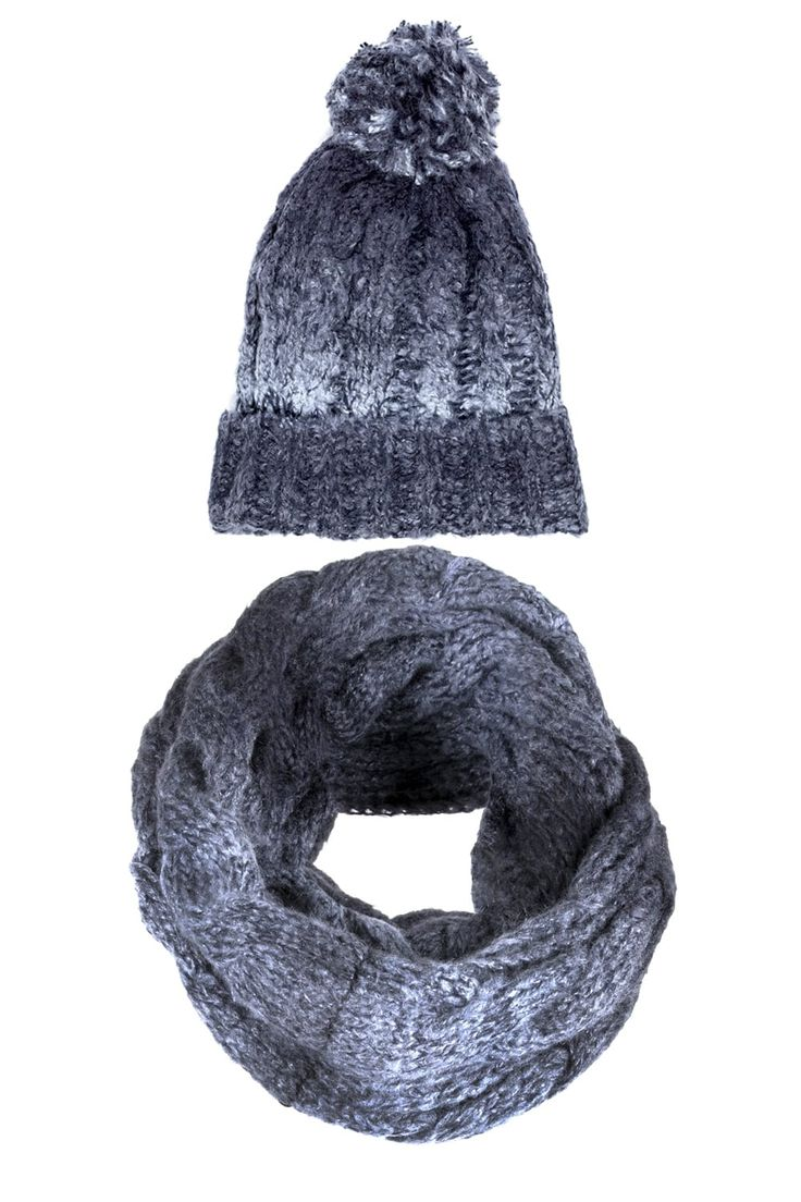 Ombre Cable Snood & Hat   http://www.mistral-online.com/accessories-c10/ombre-cable-snood-hat-grey-ombre-p27865