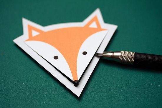 Лисичка: закладка для книг