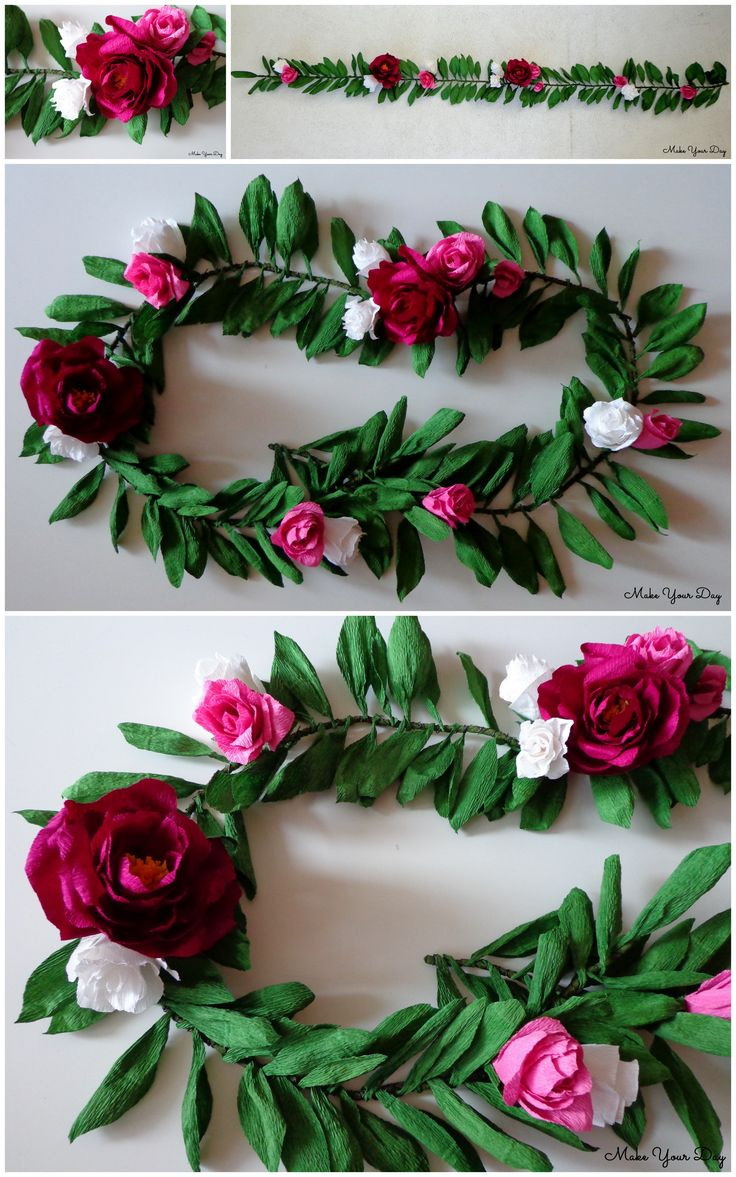 The wonderful flower garland made with well quality crepe paper.