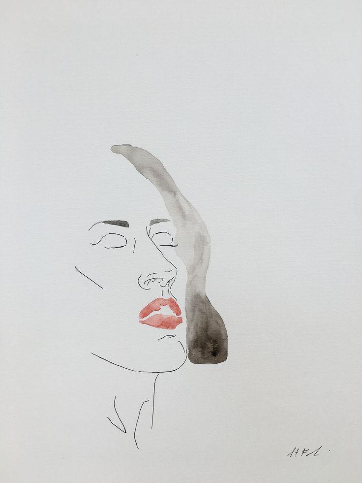 Hayleyfrankart  #hayleyfrankart #artist #art #artistonpinterest #watercolourpainting #painting #design #portrait